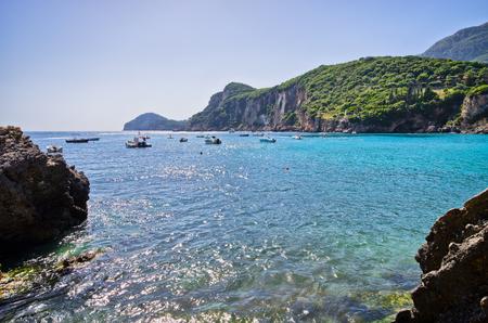 Liapades beach on Corfu island, Greece photo