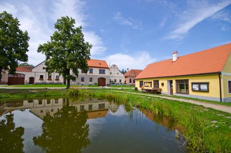 unesco in czech republic: Holasovice in Czech Republic - old village on UNESCO heritage list