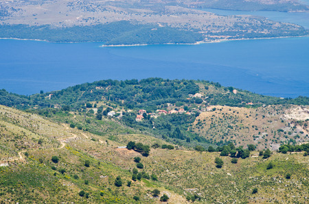 Landsacpe from the mountain - Corfu island, Greece photo