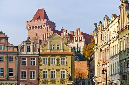 tenement: Castle and tenement houses in Poznan - Poland