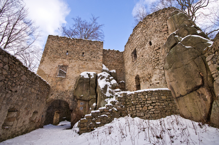 sudeten: Ruins of Bolczow castle in Rudawy Janowickie mountains, Poland