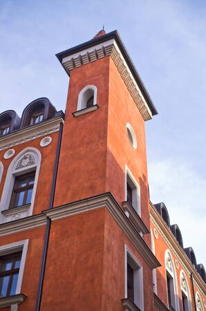 renovated: Renovated old bulding on Wroclawska street in Poznan, Poland