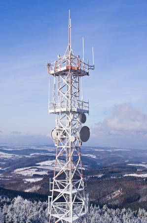 radio frequency: Transmiter on Wielka Sowa mountain in Owl Mountains, Poland