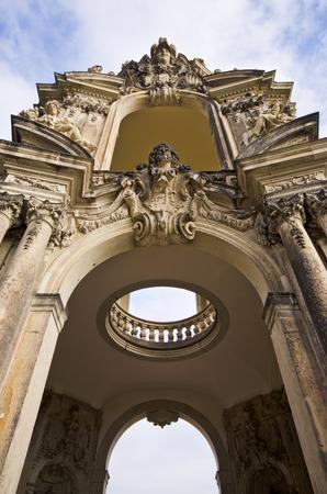 architectural details: Architectural details in Zwinger, Dresden, Germany Stock Photo