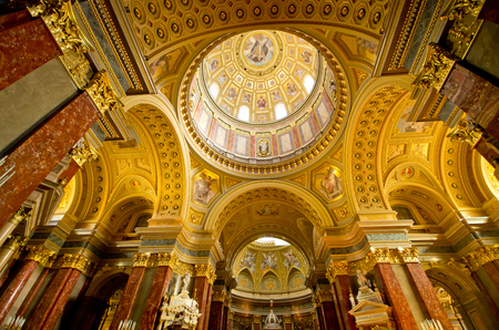 Interior of St Stephens Basilica in Budapest - Hungary