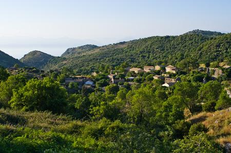 Perithia - abandoned village on Corfu island, Greece photo