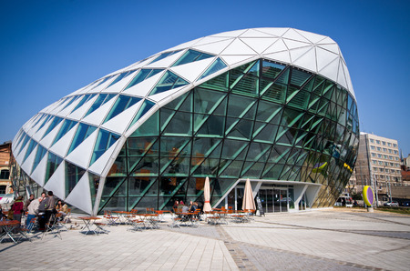 Budapest Hungary March 28 2015: Modern building