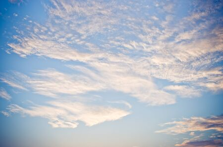 melancholia: Blue sky with clouds for background usage