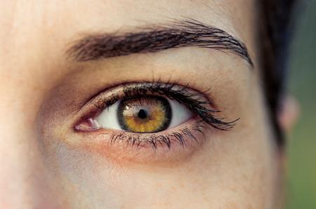 brown eye: Brown eye of young woman