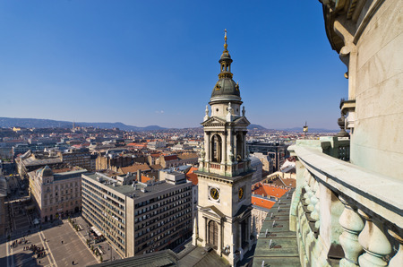 View on Budapest from st. Stephens Basilica - Hungary Stok Fotoğraf