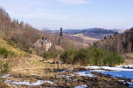 sudetes: Early winter in Sudetes mountains, Poland