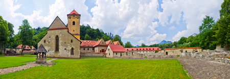 monasteri: Famous Red Monastery Cerveny Klastor, Slovakia