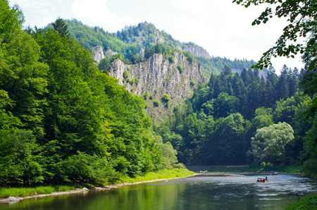river view: Dunajec river in Pieniny mountains - Poland