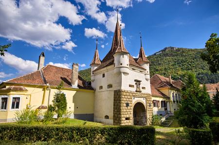 brasov: Famous gate in Brasov town - Romania Stock Photo