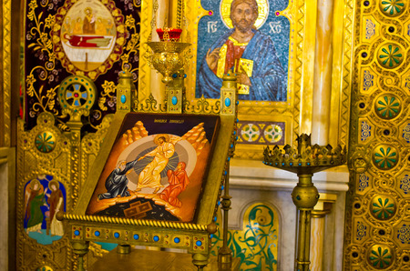 iconostasis: Part of iconostasis in Curtea de Arges - Romania