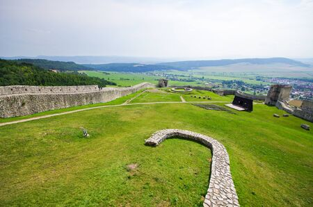 slovak republic: Yard of Spissky Hrad castle, Slovakia Stock Photo