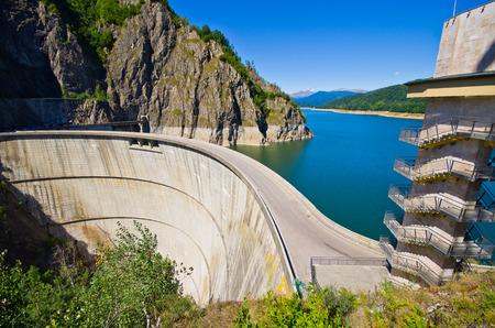 Dam lake Vidraru in Romania
