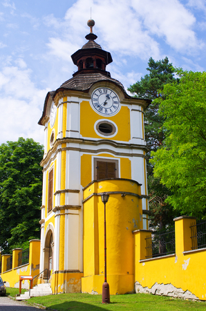 ecclesiastical: Old tower in Spisske Podhradie town, Slovakia