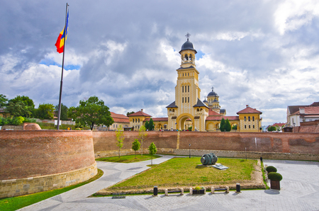 alba: Churches of Alba Iulia - Romania Editorial