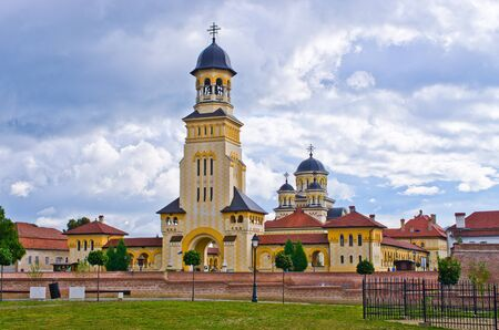 alba: Churches of Alba Iulia - Romania Stock Photo