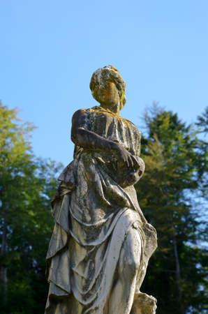 statuary garden: Woman statue in Peles castle - Romania
