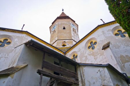 heritage protection: Traditional defense church in Prejmer, Romania