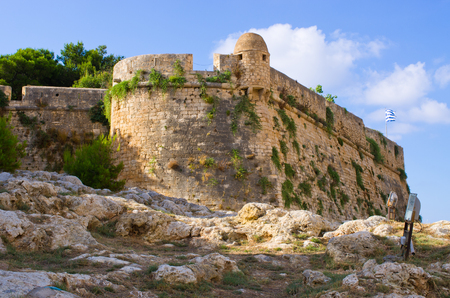 rethymno: Ancient fortess in Rethymno - Crete, Greece Stock Photo
