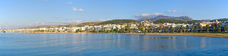 rethymno: Panoramic cityscape of Rethymno, Crete, Greece Stock Photo