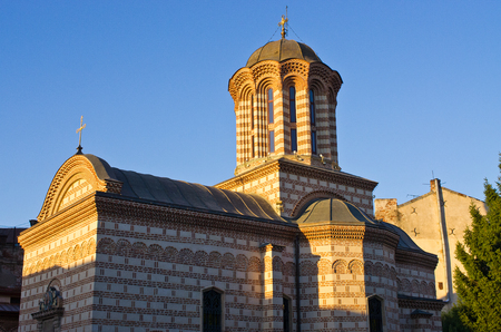 princely: Famous orthodox church in Bucharest, Romania