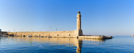 rethymno: Lighthouse in Rethymno - Crete, Greece