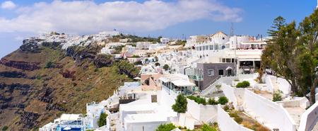 thira: Cityscape of Thira in Santorini island - Greece