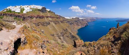 thira: Beautiful panorama of Thira on Santorini island, Greece