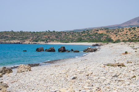 stony: Stony beach on Crete island - Greece Stock Photo