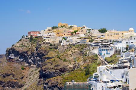 santorini island: Cityscape of Thira in Santorini island - Greece