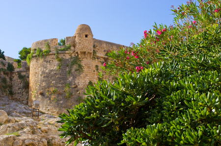 rethymno: Ancient fortess in Rethymno - Crete, Greece Stock Photo