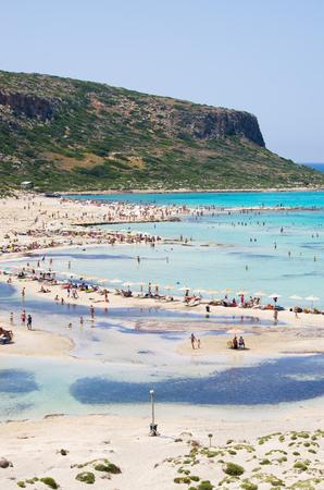 Famous Balos beach on Crete island, Greece