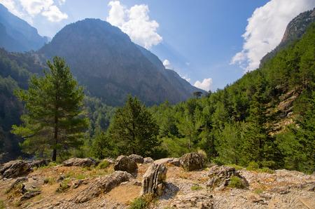 samaria: Famous Samaria Gorge, Crete, Greece Stock Photo