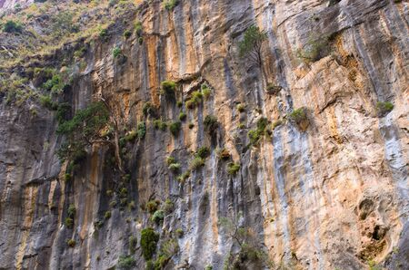 samaria: Geological layers visible in Samaria Gorge on Crete island, Greece
