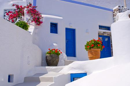 santorini island: Typical backyard on Santorini island - Greece