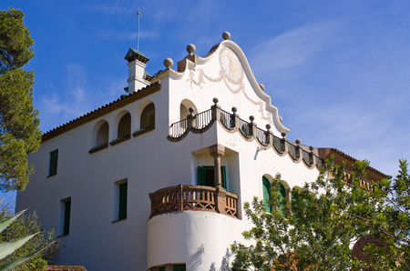 House in Park Guell - Barcelona, Spain Editorial