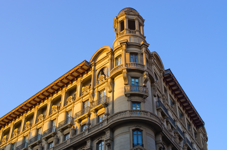 Typical tenement house of Barcelona - Spain Editorial