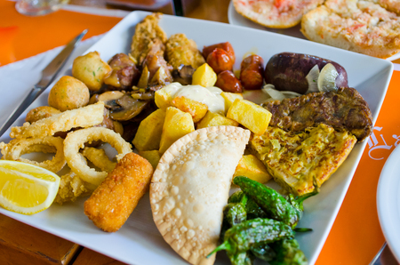 typical: Variety of typical spanish tapas