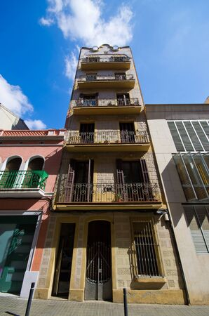 catalunia: Typical tenement house of Barcelona - Spain Editorial