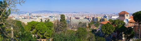 montjuic: Panoramic cityscape of Barcelona from Montjuic Hill - Spain Editorial