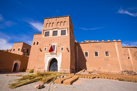 Famous kasbah Taourirt in Ouarzazate, Morocco Editorial