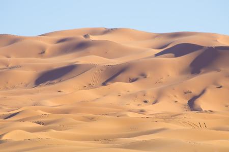 Part of Sahara desert in Morocco