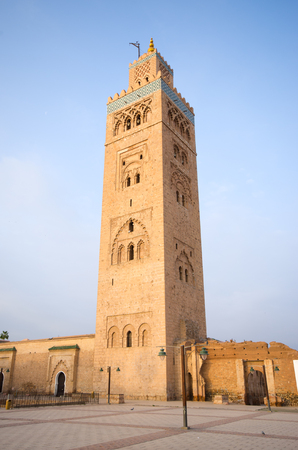Famous mosque of Marrakech, Morocco