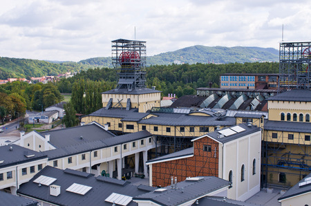 Walbrzych, Poland - September 26, 2015: Museum of Old Coal Mine. Polish name of this museum is Stara Kopalnia. Unique industrial architecture located in the mine established in 18th century.