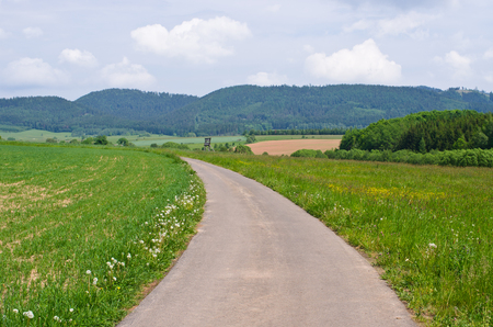 road bike: Bike road in the hills, Poland