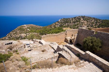 Kritinia castle on Rhodes island - Greece